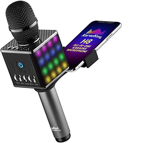 KaraoKing Portable Wireless Bluetooth Karaoke Microphone