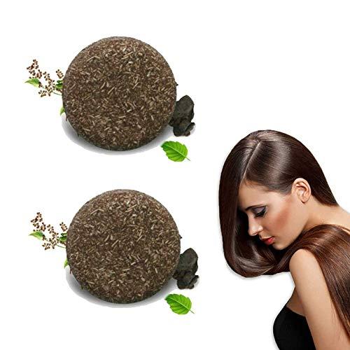 Organic Grey Reverse Shampoo Bar- Bar Shampoo for Hair, Solid Shampoo Bar, Natural Darkening Shampoo Bar, Natural Shampoo Bar, for Repair Damaged Hair, Oisturize Hair(2pcs)