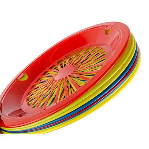 Table to Go Reusable Plastic Plate Holder | Durable Plastic Support | 10 Inch Paper Plate Holder | Pack of 20 | Multicolor Lightweight Plate Holders