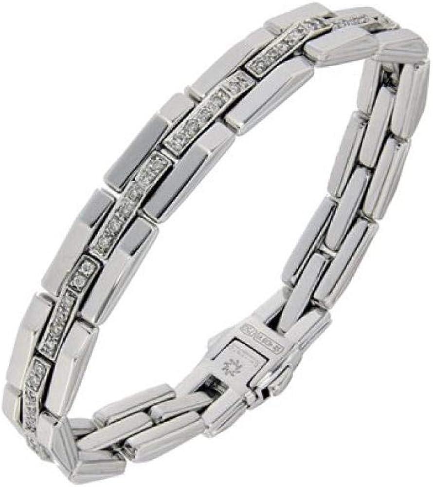 Chimento,bracciale per donna,in oro 18 kt(24,3 gr)e con  diamanti bianchi 1B00246BB5185