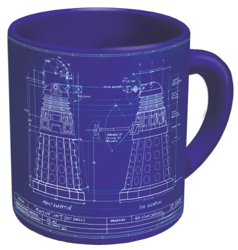 The Unemployed Philosophers Guild Doctor Who - Genesis of the Daleks Coffee Mug - Study the Blueprints of the Dalek While You Drink Your Beverage - Comes in a Fun Gift Box
