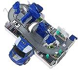 YELVQI Deformation Car Model Set, Police Car Engineering Vehicle Estacionamiento de Camiones de Bomberos Juguete Educativo Interactivo for niños Mayores de 3 años Navidad, Regalos de año Nuevo