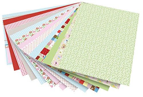 folia 46809 - Motivkarton Mittsommerland sortiert, 50 x 70 cm, 270 g/qm, 13 Bogen - Grundlage für vielfältige Bastelarbeiten und -ideen