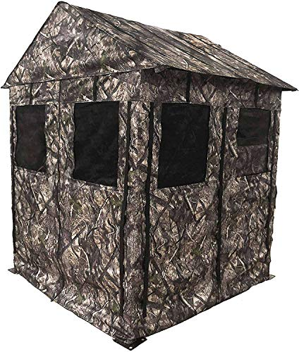 Backyard Expressions 908269 Deluxe Weather Resistant Ground Blind, True Timber Camo - HTC Fall