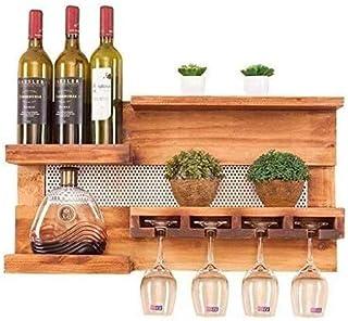 KFDQ Novelty Wine Glass Rack, Wine Rack,Wine Rack Storage Kitchen Racks Wall Bottle Cabinet Time Designed Away Simplenote ...