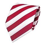 Schicke TigerTie Designer Krawatte - Schlips Binder rot tomatenrot weiss gestreift - Tie