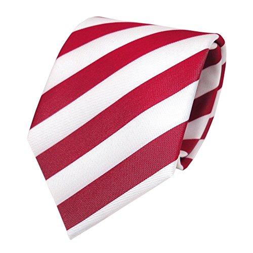 TigerTie - Corbata - rojo tomate-rojo blanco rayas - Tie