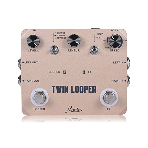 Rowin Twin Looper Station Electric Guitar Effect Pedal Loop Station for Guitarists...