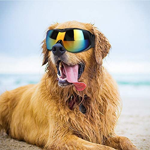 Yosoo Health Gear Dog Sunglasses UV Protection Dog Sunglasses Goggles Pet Sunglasses for Large product image