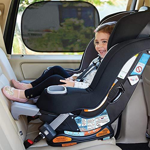 Orlegol Sonnenschutz Auto Baby, Sonnenblende Auto Baby mit UV Schutz, Universelle Auto Sonnenblende für Seitenfenster, 2 Stück selbsthaftende Sonnenblende Auto Kinder, Autofenster Sonnenschutz 51x31cm