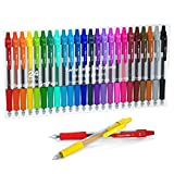 Colored Gel Pens, Lineon 24 Colors Retractable Gel Ink Pens with Grip, Medium Point(0.7mm) Smooth Writing Pens Perfect for Adults and Kids Journal Notebook Planner, Writing in Office and School