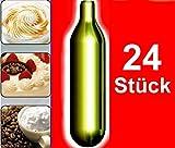 NEMT 24s 24 Stück N2O Sahnekapseln, passend für alle handelsüblichen Sahnebereiter von Liss, Mosa, iSi, Kayser, Mastrad, Cream Whipper Chargers