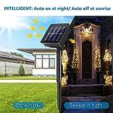 Solar Lichterkette Aussen, ECOWHO Warmweiß 22M 200 LEDs Kupferdraht lichterkette, 8 Modi IP65 Wasserdicht Solarlichterkette, Außen Lichterketten für Garten Weihnachten Deko - 3