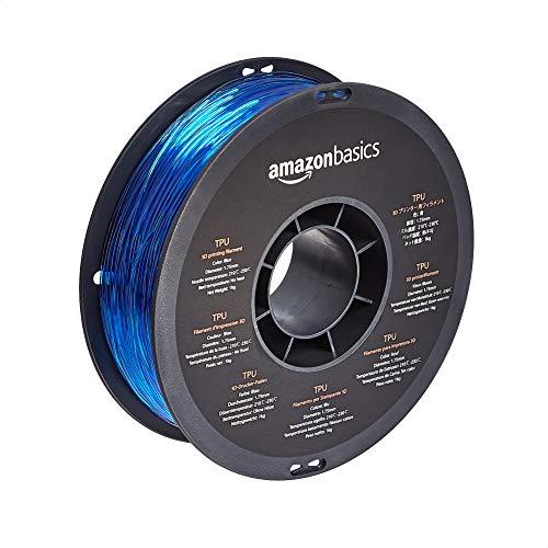Amazon Basics - Filamento para impresora 3D, poliuretano termoplástico (TPU), 1,75 mm, cinta de 1 kg (2,2 libras), color azul