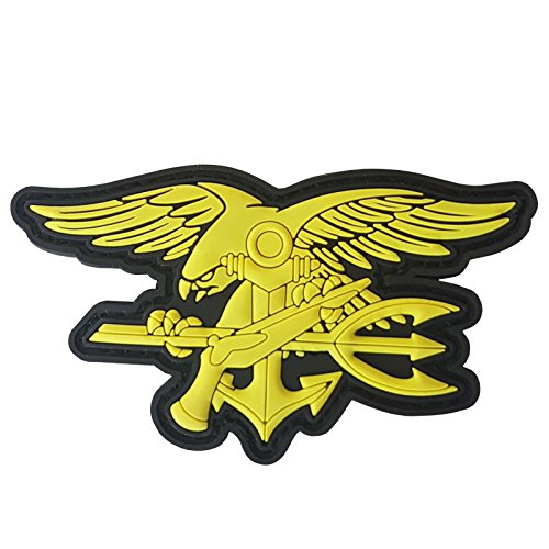 2AFTER1 US Navy Seals Insignia DEVGRU SOCOM Morale Tactical Army PVC 3D Hook-and-Loop Patch