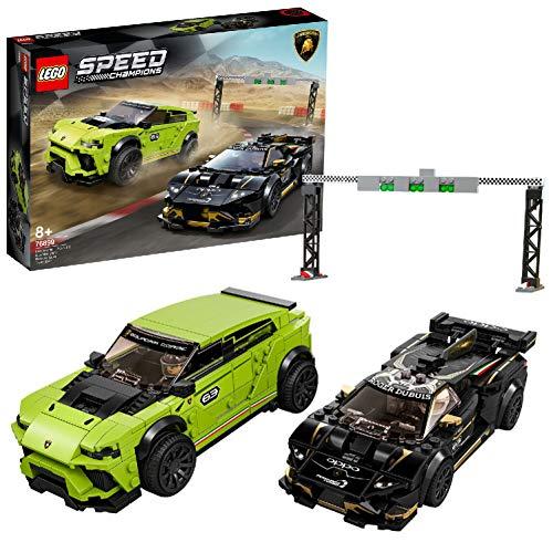 LEGO - SpeedChampions LamborghiniUrusST-XeLamborghiniHuracánSuperTrofeoEVO, Set di Costruzioni con Auto da Corsa, 76899