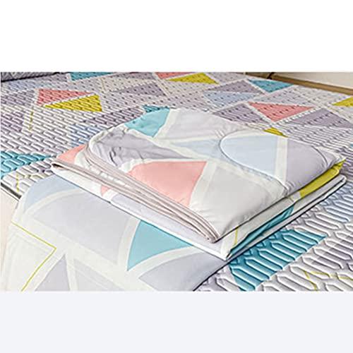 FACAI Verano Aire Acondicionado Seda Tencel Cool Látex Cojín Cojín Estera de Enfriamiento Alfombra de Látex,Quilt:150x200cm
