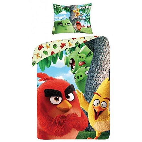 Angry Birds - Juego de cama individual (140 x 200 cm + 70 x 90 cm)