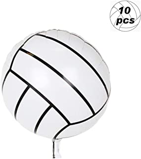 10 Pcs Sport Balloons Aluminum Foil Balloon 18 Inches Volleyball Balloons for Sport Theme Birthday Party Decoration