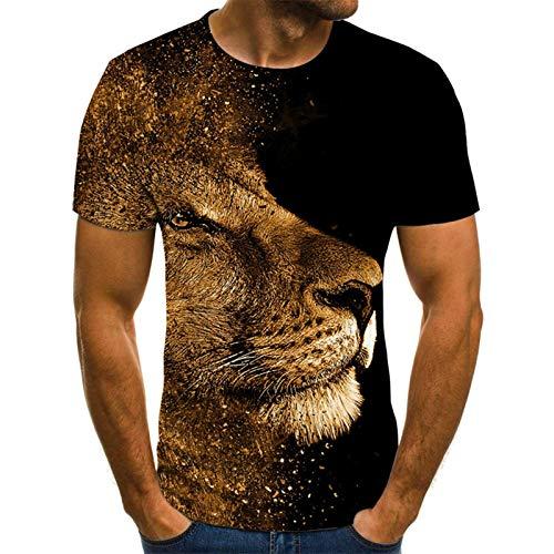 SSBZYES Camisetas De Talla Grande para Hombre Camisetas De Manga Corta De Talla Grande para Hombre Camisetas De Impresión Digital En 3D para Hombre Camisetas Casuales De Manga Corta