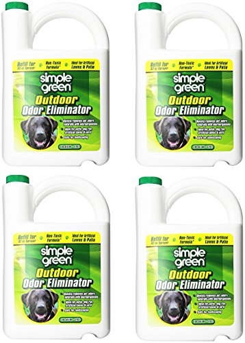 Simple Green 432108 Outdoor Odor Eliminator for Dogs, 1 Gallon (Pack of 4)