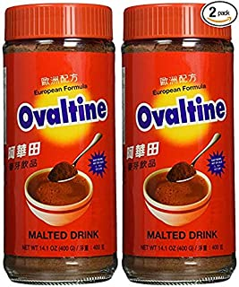 Ovaltine European Formula Malted Drink 14.1 Oz - 400g Bottle (Pack of 2)