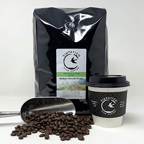 Simpatico Low Acid Coffee - DECAF - Medium - GROUND (5 pound bag)