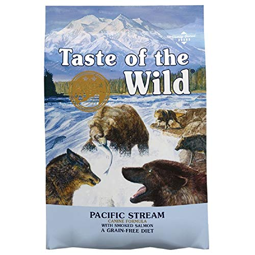 Adult Dry Dog Food Grain Free Complete Salmon Pacific Stream All Breeds (2 x 12.2kg bag)