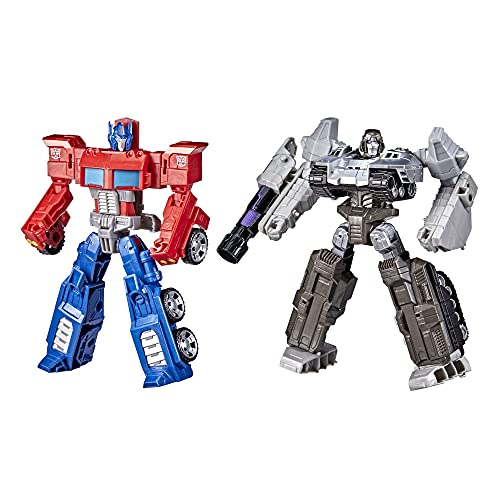 Transformers Toys Heroes and Villains Optimus Prime and Megatron 2-Pack Action Figures - for Kids Ages 6 and Up, 7-inch