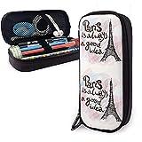 Tour Eiffel à Paris étui à crayons en cuir stylo à glissière sac sac boîte titulaire étudiants fournitures scolaires sac