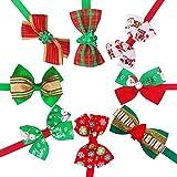 BIPY Lot de 20 noeuds papillon pour animal de compagnie et petit chien, chat, chiot, cravate réglable avec glissières de style varié pour accessoires de toilettage