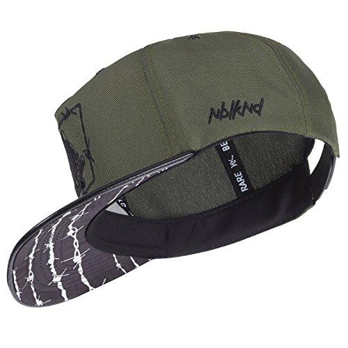 Nebelkind Snapback Cap Schwarz Grün Barbed Wire Stacheldraht Größenverstellbar Unisex One Size