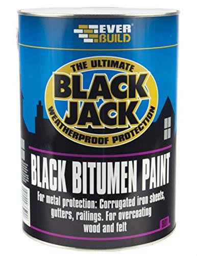 Everbuild Black Jack 901 Black Bitumen Paint 5 Litres