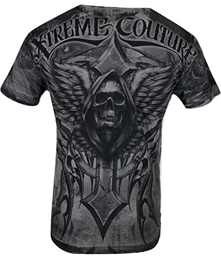 Xtreme Couture by Affliction Men T-Shirt Last Scream Tatto Biker MMA Gym S-5X$40 (5XL) Gray