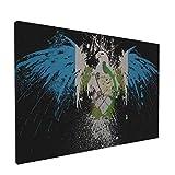Wandbild auf Leinwand, Guatemala-Flagge, Guatemala-Flagge, mittelamerikanischer Adler, modern, dekorativ, gerahmt, Kunstwerk für Zuhause, Dekoration, fertig zum Aufhängen (45,7 x 30,5 cm)