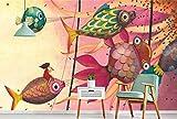 Papel Pintado Pared Pez Volador Del Mundo De Cuento De Hadas Fotomurales 3d Papel Pintado Dormitorio Decorativos Murales Wallpaper Fondo Decoración de Pared 200x140cm