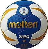 Molten H3X3200-BW - Balón de Balonmano, Color Azul, Blanco y Dorado