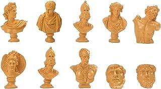 10Pcs/Set Greek Sculpture Resin Bust Statue,Greek God Statue Miniature Art Ornaments, for Home Office Bookshelf Art Décor