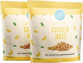 Amazon-merk: Happy Belly cashewnoten, geroosterd en gezouten, 2 x 500 g