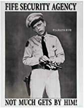 SRongmao Andy Griffith Show Fife Security Mayberry Law Agency Retro Wall Art Decor Metal Tin Sign 8x12in