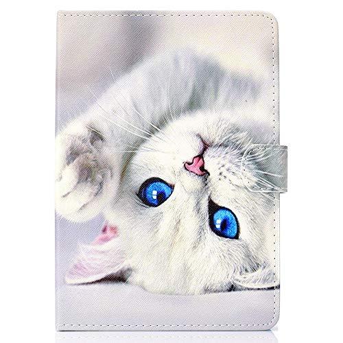 Coopay Funda universal para tableta de 10 pulgadas, funda en folio Funda de cuero elegante de PU para tableta táctil Funda magnética con diseño de gato de 10 'con tapa magnética antirayaduras