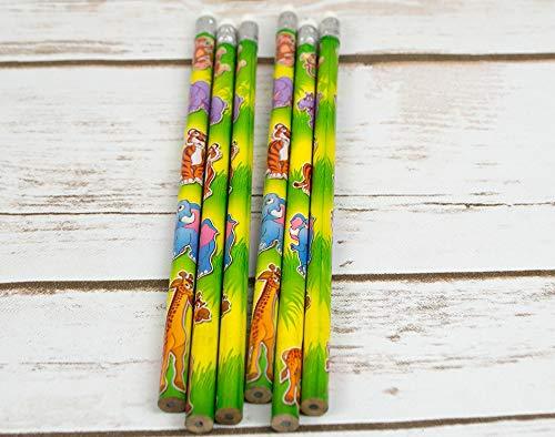 Zoo Lot de 6 crayons