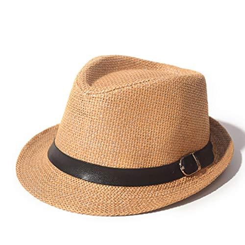 Goquik Strohoed, voor mannen en vrouwen, voor reizen, strandhoed, Britse hoed