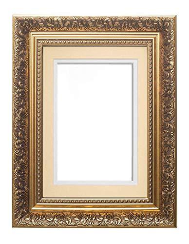 Memory Box Cadre Photo à Double Passe-Partout Style Antique 29,7 x 42 cm pour Photos A4