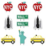 Big Dot of Happiness NYC Cityscape - Big Apple, Taxi, Skyscraper and Lady Liberty Lawn Decorations - Outdoor New York City Party Yard Decorations - 10 Piece
