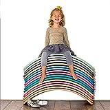 PUDDINGT® Tabla de Equilibrio de Madera para niños | Tablero De Madera Montessori | Columpio Curvado Curvado | Tablero de bamboleo,Apto para Adultos y niños(Carga 440 LB),Azul