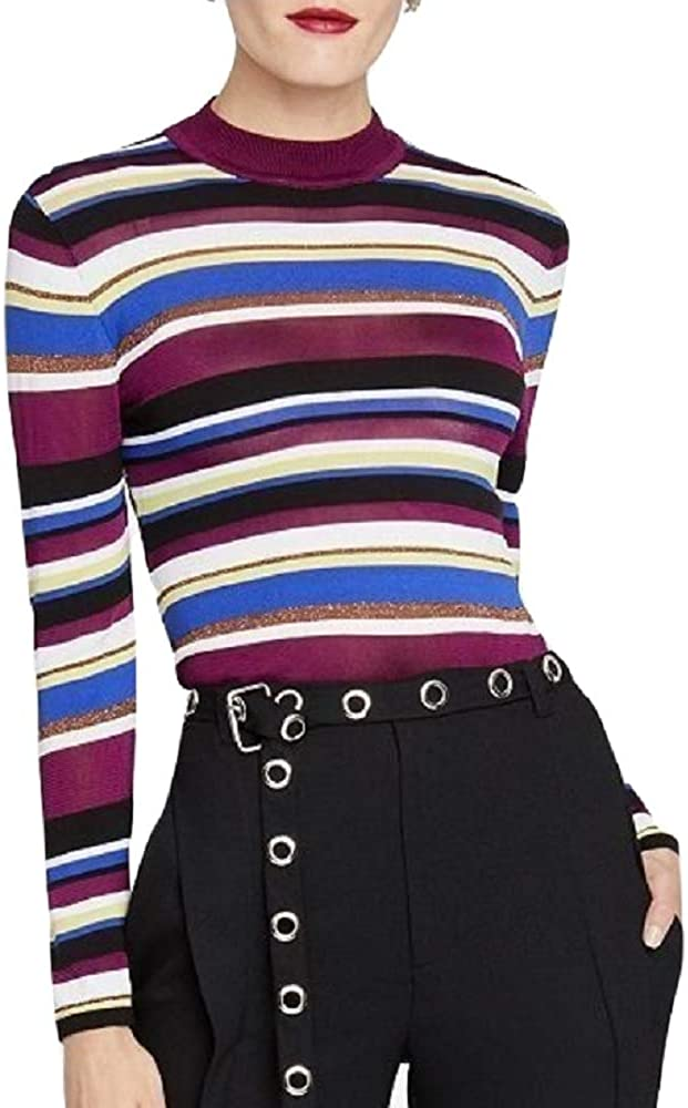 Rachel Roy Womens Back Cut Fashionable Out Sweater Pullover Striped Max 53% OFF