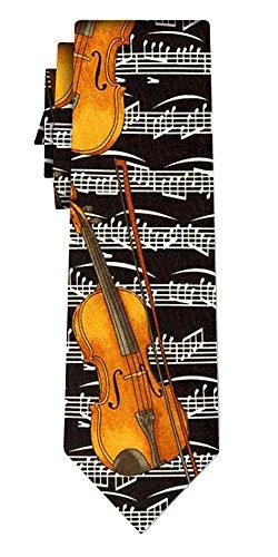 Cravate violins on notes blk