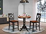 3 PC counter height Table and chair set - Dining Table and 2 counter height stool.