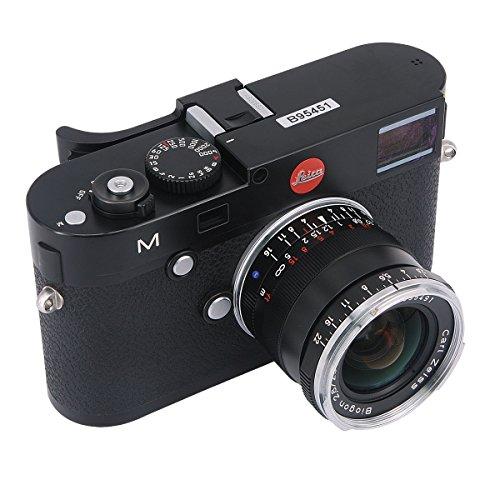 Haoge THB-M24B Metall-Blitzschuh-Daumenauflage, Handgriff für Leica M Typ240 M240, M-P Typ 240 M240P, M Typ262 M262, M-D Typ 262 Kamera, Schwarz